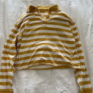 Yellow Striped AEO Long Sleeve